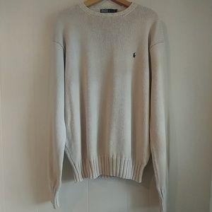 Polo by Ralph Lauren Heavy Knit Cream Sweater